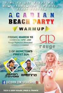 Beach Party Warmup Rouge 2017
